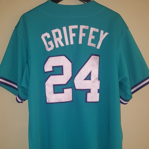 purchase cheap 036a8 85af6 Ken Griffey Jr #24 Mariners Jersey Away Colorway